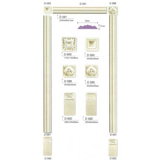 Дверное обрамление D591 (Наличник)